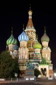 Svatého Vasila Blaženého v Moskvě. — Stock fotografie