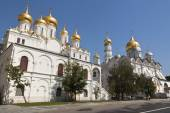 Archangel and Annunciation Cathedral, Kremlin, Moscow, Russia. — Stock Photo