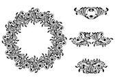 Victorian Decorative Element Set — Stock Vector