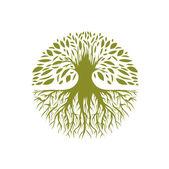 Abstract Round Tree Logo — Stock Vector
