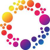 Circle colourful background — Stock Photo