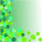 Green modern geometrical abstract background. — Stock Photo