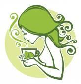 Tea time vector illustration — Stock Vector