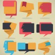 Vector speech bubbles, tags and stickers collection — Stock Vector #66719349