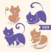 Lovely cats, my favorite pets — Stock Vector
