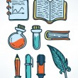 Science and education hand drawn icons — Stock Vector #69099233
