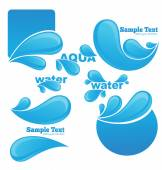 Water stickers and symbols for your text — Stock Vector