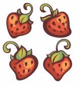 Fresh mellow strawberry, vector illustration — Stock Vector