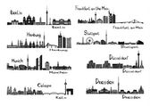 8 cities of Germany — Wektor stockowy