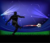 Football player - shot — Stock vektor