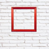 Red beautiful ornamental frames — Stock Photo