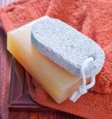 Jabones y toallas — Foto de Stock