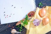 Space for recipe — Stock Photo