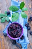 Blackberry jam — Stock Photo