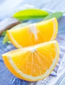 Cut orange — Stock Photo