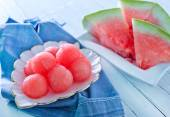 Watermelon balls — Stock Photo