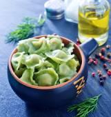 Ravioli in bowl — Stock Photo