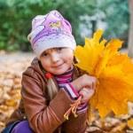 Little girl in autumn park — Stock Photo #56570835