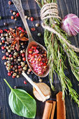 Aroma spices in spoon — Stock Photo