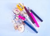 彩色铅笔 — 图库照片
