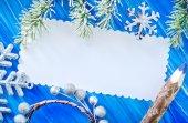 圣诞贺卡 — 图库照片