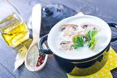 Mushroom soup — Stock Photo