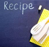 Black board for recipe — Stock Photo
