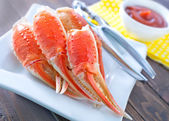 Boiled crab claws — Stock Photo