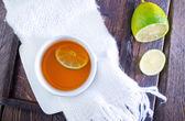 Fresh tea with lemon — Stock Photo