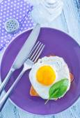 Fried egg and toasts — Photo