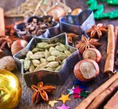 Aroma spice for christmas baking — Stock Photo