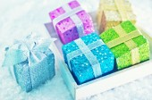 Box for present in box — Stockfoto