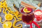 Подогретое с пряностями вино — Стоковое фото