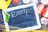 Board for recipe — Stock Photo