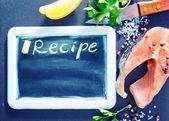 Black board for recipe — ストック写真