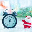 Clock and christmas decoration — Stock Photo #59297167