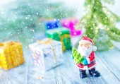 Christmas decoration on the snow — Stock Photo