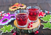 Mulled wine in the glass — Stock Photo