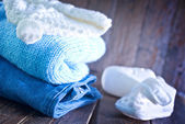 Baby clothes for boy — Stock Photo