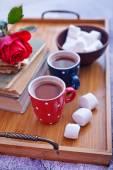 Cocoa drink and marshmallows — Zdjęcie stockowe