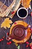Fresh tea in teapot — Stock Photo