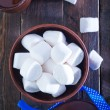 White marshmallows in the bowl — Stock Photo #60858869