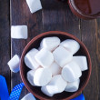 White marshmallows in the bowl — Stock Photo #60858891
