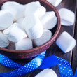 White marshmallows in the bowl — Stock Photo #60858893