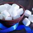 White marshmallows in the bowl — Stock Photo #60858901
