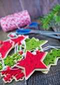 Color christmas decorations — Stock Photo