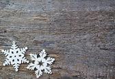 Artificial snowflakes — Stock Photo