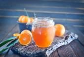 Tangerine jam in bank — 图库照片