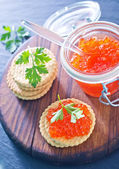 Red salmon caviar — Stock Photo
