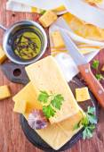 Cheese on board — Stock Photo